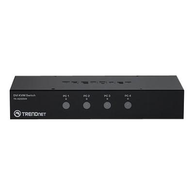 TRENDnet TK-422DVK TK 422DVK - KVM / audio / USB switch - USB - 4 x KVM / audio / USB - 1 local user - desktop