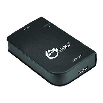 SIIG JU-H20311-S1 SuperSpeed USB 3.0 to HDMI Adapter - External video adapter - DisplayLink DL-3500 - 512 MB DDR2 - USB 3.0 - HDMI - black