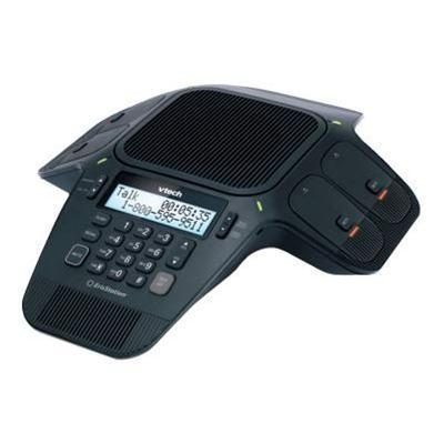 Vtech Communications VCS704 ErisStation Conference Phone with Wireless Mics - Cordless conference phone with caller ID - DECT 6.0 - black