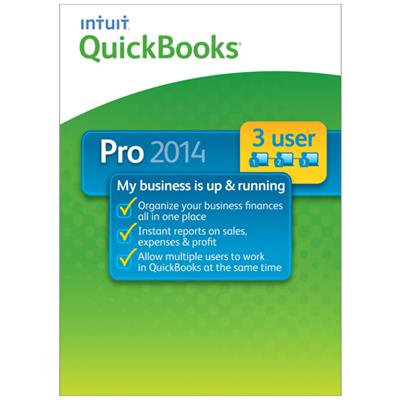 Intuit 421336 Quickbooks Pro 2014 - 3 User - Us Only