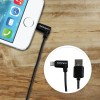 StarTech 2m 6ft Angled Black Apple 8-pin Lightning to USB Cable for iPhone iPod iPad - Angled Lightning Cable, Charge & Sync