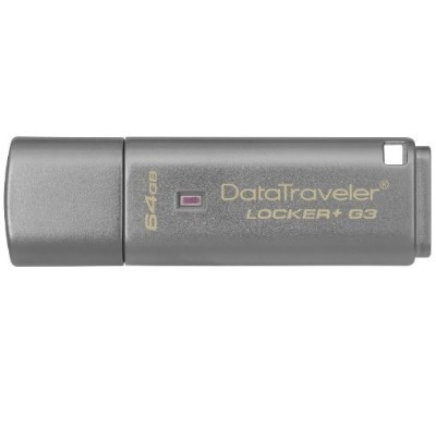 Kingston Digital DTLPG3/64GB 64GB DataTraveler Locker+ G3 USB 3.0 Flash Drive