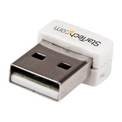StarTech.com USB150WN1X1W USB 150Mbps Mini Wireless N Network Adapter - 802.11n/g 1T1R USB WiFi Adapter - White
