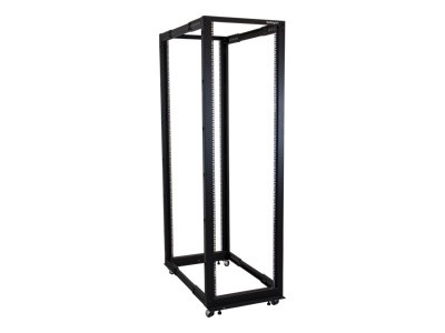 StarTech.com 4POSTRACK42 42U Adjustable Depth Open Frame 4 Post Server Rack Cabinet - Flat Pack w/ Casters  Levelers and Cable Mgmt Hooks