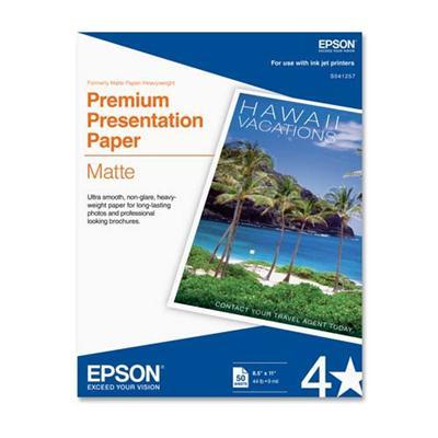 Epson S041468 11 x 14 Premium Presentation Paper Matte  Borderless - 50 Sheets