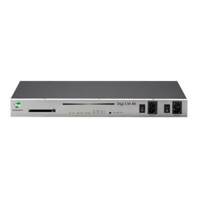 Digi 70001698 CM 48 - Console server - 48 ports - 10Mb LAN  100Mb LAN  RS-232 - 1U