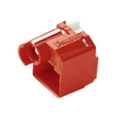 Panduit PSL-DCPLX Lock-In Device - Outlet port lock kit - red