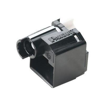 Panduit PSL-DCPLX-BL Flush Lock-in Device - Outlet port lock kit - black