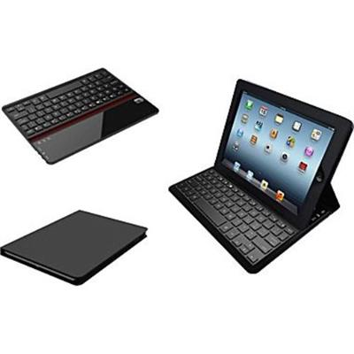 Adesso WKB-1020DB Compagno Air Bluetooth 3.0 Scissor-Switch Keyboard & Folio Case