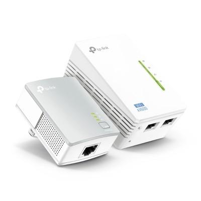 TP-Link TL-WPA4220KIT TL-WPA4220KIT AV500 2-Port Wifi Powerline Adapter Starter Kit - Bridge - HomePlug AV (HPAV) - 802.11b/g/n - wall-pluggable