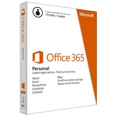 Microsoft Qq2-00042 Office 365 Personal - Box Pack ( 1 Year ) - 1 Phone  1 Tablet  1 Pc/mac - 32/64-bit  Medialess - Win  Mac  Android  Ios - English - Puerto R