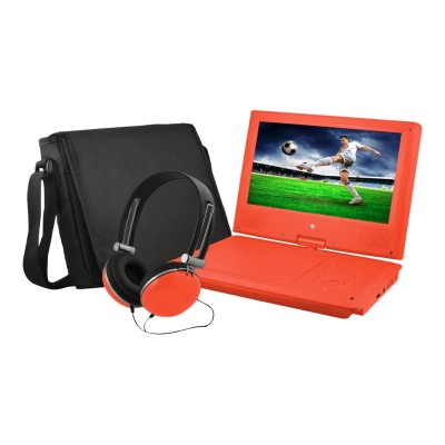 e-matic EPD909RD EPD909 - DVD player - portable - display: 9 - red