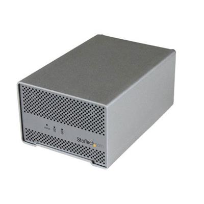 StarTech.com S252SMTB3 Thunderbolt Hard Drive Enclosure with Thunderbolt Cable - Dual Bay External 2.5 HDD/SSD Enclosure with built-in fan