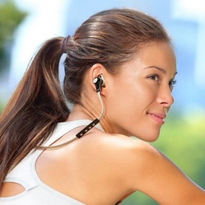 Aluratek ABH13F Bluetooth Wireless Sport Earbuds - White