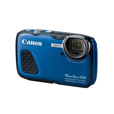 Canon 9337B001 PowerShot D30 12MP Digital Camera - Blue