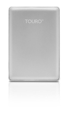 Hitachi GST 0S03729 1TB Touro S Ultra-Portable External Hard Drive with Cloud Back Up - Silver