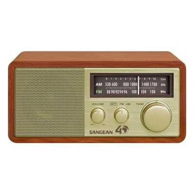Sangean WR11SE FM / AM Analog Wooden Cabinet Receiver - Gold