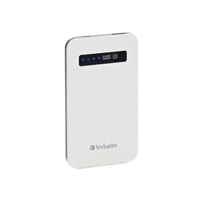 Verbatim 98454 Ultra Slim Power Pack - External battery pack Li-pol 4200 mAh - on cable: Micro-USB - white 9976290