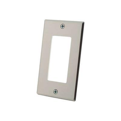 Cables To Go 41332 Decorative Style Cutout Single Gang Wall Plate - Aluminum - Mounting plate - aluminum - 1-gang