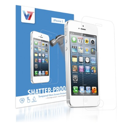 V7 PS500-IPHN5TPG-3N Screen protector - for Apple iPhone 5  5c  5s