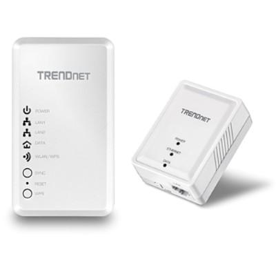TRENDnet TPL-410APK TPL-410APK - Bridge - HomePlug AV (HPAV) - 802.11b/g/n - 2.4 GHz - wall-pluggable