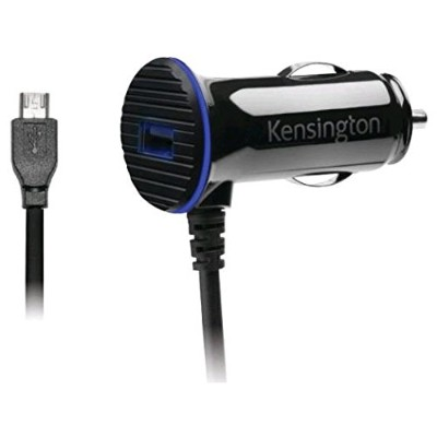 Kensington K38119WW PowerBolt 3.4 Fast Charge - Power adapter - car - 2.4 A - 2 output connectors (USB (power only)  Micro-USB Type B (power only)) - on cable: