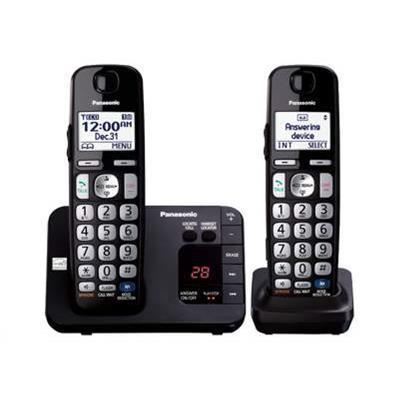 Panasonic KX TGE232B KX TGE232B Cordless phone answering system with caller ID call waiting DECT 6.0 Plus black additional handset