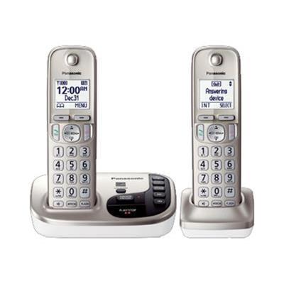 Panasonic KX-TGD222N KX-TGD222N - Cordless phone - answering system with caller ID/call waiting - DECT 6.0 Plus + additional handset