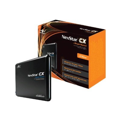 Vantec NST-200S3-BK NexStar CX NST-200S3-BK - Storage enclosure with data indicator  power indicator - 2.5 - SATA 3Gb/s - 300 MBps - USB 3.0