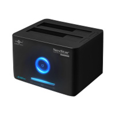 Vantec NST-D400SU3-BK NexStar SuperSpeed Dual Bay Hard Drive Dock NST-D400SU3-BK - HDD docking station - bays: 2 - SATA 6Gb/s - eSATA  USB 3.0