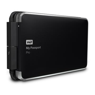 WD WDBRMP0020DBK-NESN 2TB My Passport Pro Portable External Hard Drive - Thunderbolt