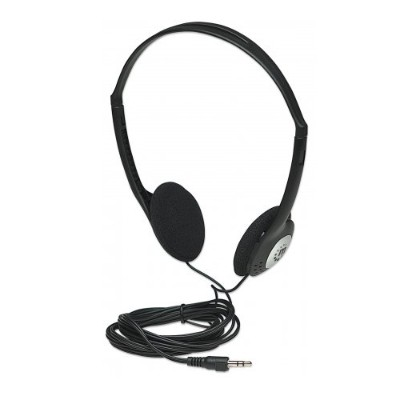 Manhattan 177481 Stereo Headphones - Lightweight and Adjustable with Cushioned Earpads