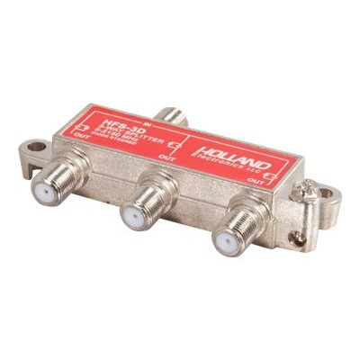 C2G 41021 High-Frequency 3-Way Splitter - Antenna splitter - RF - F connector (F) to F connector (F) - silver