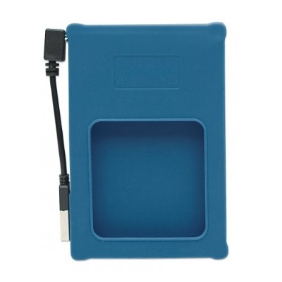 Manhattan 130110 Drive Enclosure - Hi-Speed USB 2.0  SATA  2.5  Blue