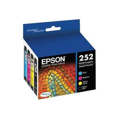 Epson T252120-BCS 252 - Color (cyan  magenta  yellow  black) - original - ink cartridge - for WorkForce WF-3620  3640  7110  7210  7610  7620  7720  WorkForce P