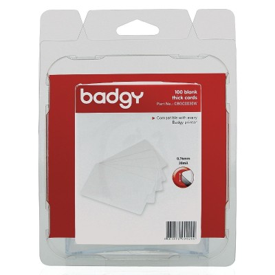 Evolis CBGC0030W Badgy - Polyvinyl chloride (PVC) - 30 mil - white - 100 card(s) cards - for Badgy 100  200  1st Generation