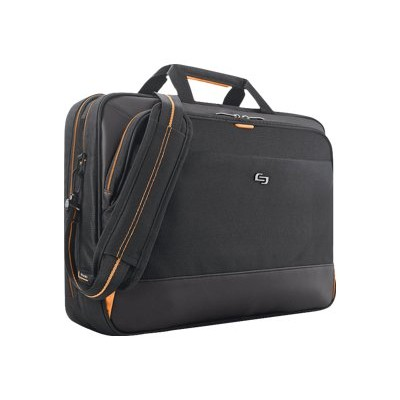 SOLO UBN300-4 Urban Ultra Multicase - Notebook carrying shoulder bag - 17.3 - black  orange