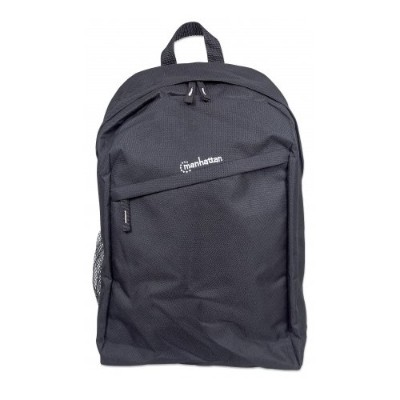 Manhattan 439831 Knappack Backpack  Lightweight  Top-Loading  For Laptop Computers up to 15.6  Black