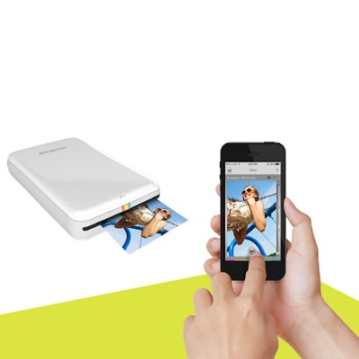 Polaroid POLMP01W ZIP Instant Mobile Photo Printer for iPhone  iPad & Android - Prints 2x3 Photos in 60 Seconds via Bluetooth or NFC - White