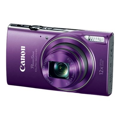 Canon 1081C001 PowerShot ELPH 360 HS - Digital camera - compact - 20.2 MP - 1080p / 29.97 fps - 12x optical zoom - Wi-Fi  NFC - purple