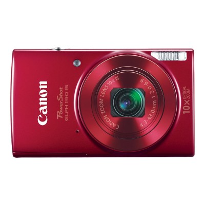 Canon 1087C001 PowerShot ELPH 190 IS - Digital camera - compact - 20.0 MP - 720p / 25 fps - 10x optical zoom - Wi-Fi  NFC - red