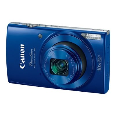 Canon 1090C001 PowerShot ELPH 190 IS - Digital camera - compact - 20.0 MP - 720p / 25 fps - 10x optical zoom - Wi-Fi  NFC - blue