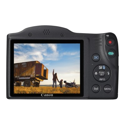 Canon 1068C001 PowerShot SX420 IS - Digital camera - compact - 20.0 MP - 720p / 25 fps - 42x optical zoom - Wi-Fi  NFC - black