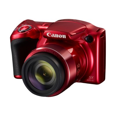 Canon 1069C001 PowerShot SX420 IS - Digital camera - compact - 20.0 MP - 720p / 25 fps - 42x optical zoom - Wi-Fi  NFC - red