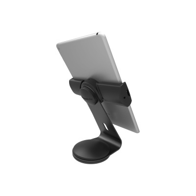 Compulocks Brands UCLGSTDB Cling Stand - Universal Tablet Counter Top Kiosk - Black - Stand for tablet - black - screen size: up to 13
