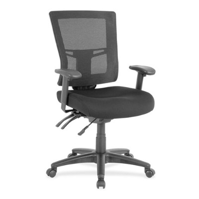 Lorell 85563 Swivel Mid-Back Mesh Chair