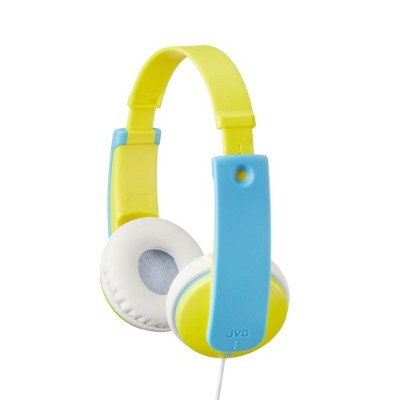 JVC HAKD7Y Child-friendly in-ear stereo headphones - Yellow/Blue