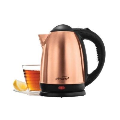 Brentwood Appliances KT-1790RG 1.7 Liter Electric Stainless Steel Kettle - Rose Gold