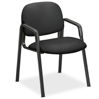 HON 4003CU10T Solutions Seating Leg-base Guest Chairs - Black Seat