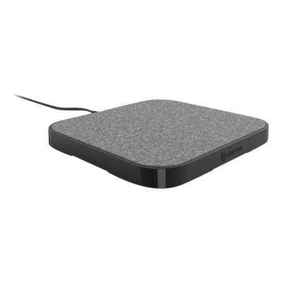 Griffin GC44086 PowerBlock - Wireless charging pad + AC power adapter - 15 Watt - black - for Apple iPhone 8  8 Plus  X